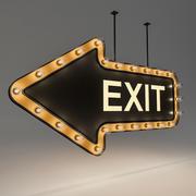 Light Bulb Loft Exit Signage 3d model