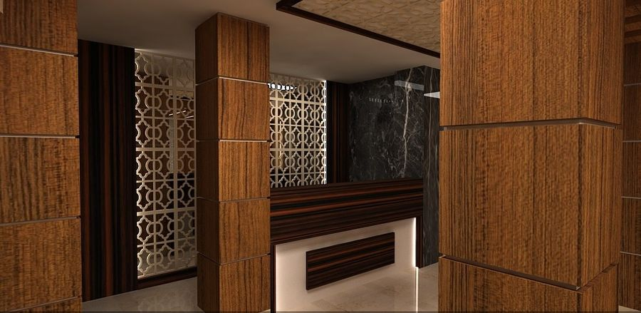 otel resepsiyonu royalty-free 3d model - Preview no. 6