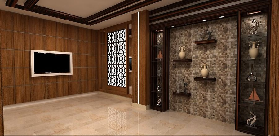 otel resepsiyonu royalty-free 3d model - Preview no. 4