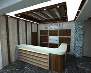 hotel reception 3d model