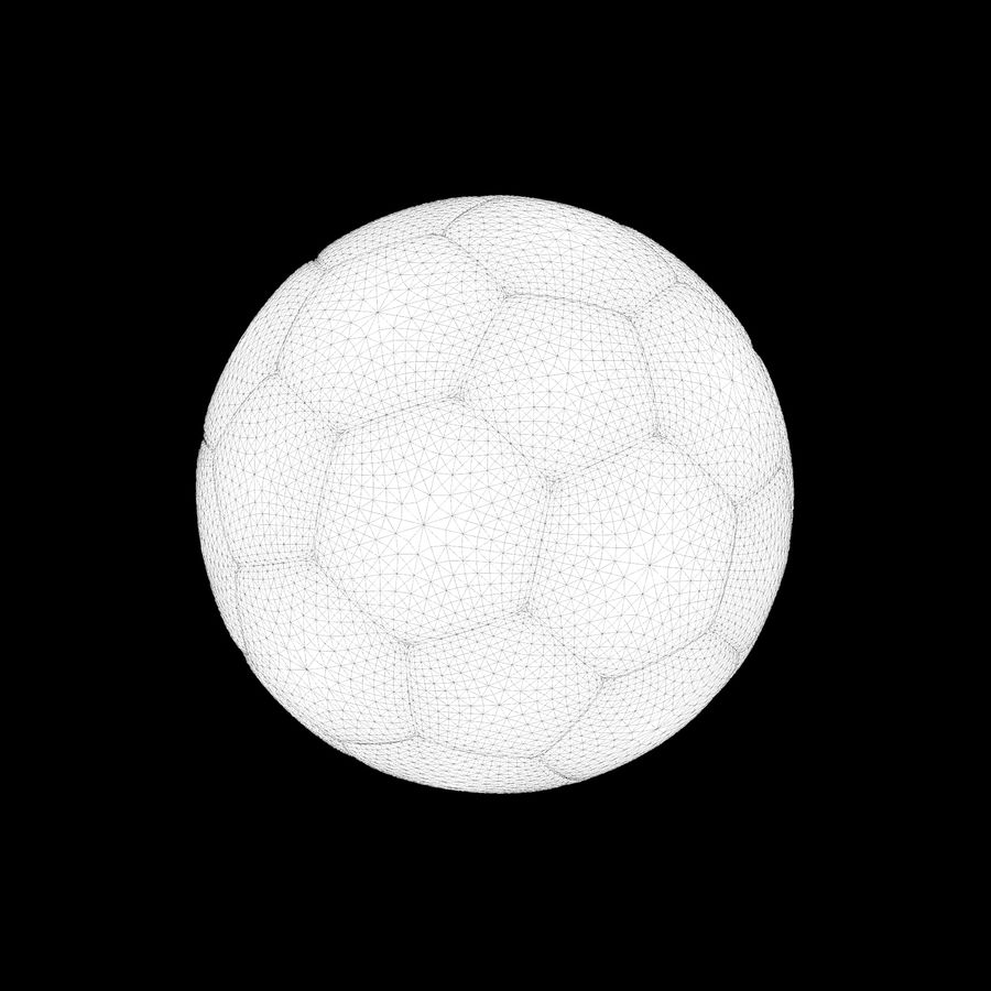 Beach Soccer Football Ball royalty-free 3d model - Preview no. 3