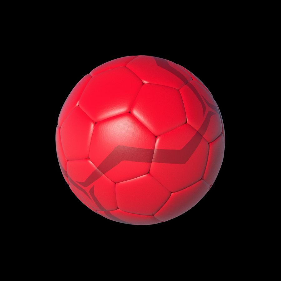 Beach Soccer Football Ball royalty-free 3d model - Preview no. 5