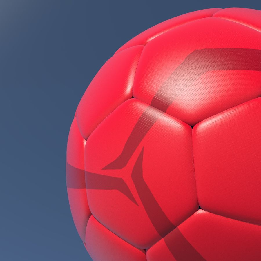 Beach Soccer Football Ball royalty-free 3d model - Preview no. 2