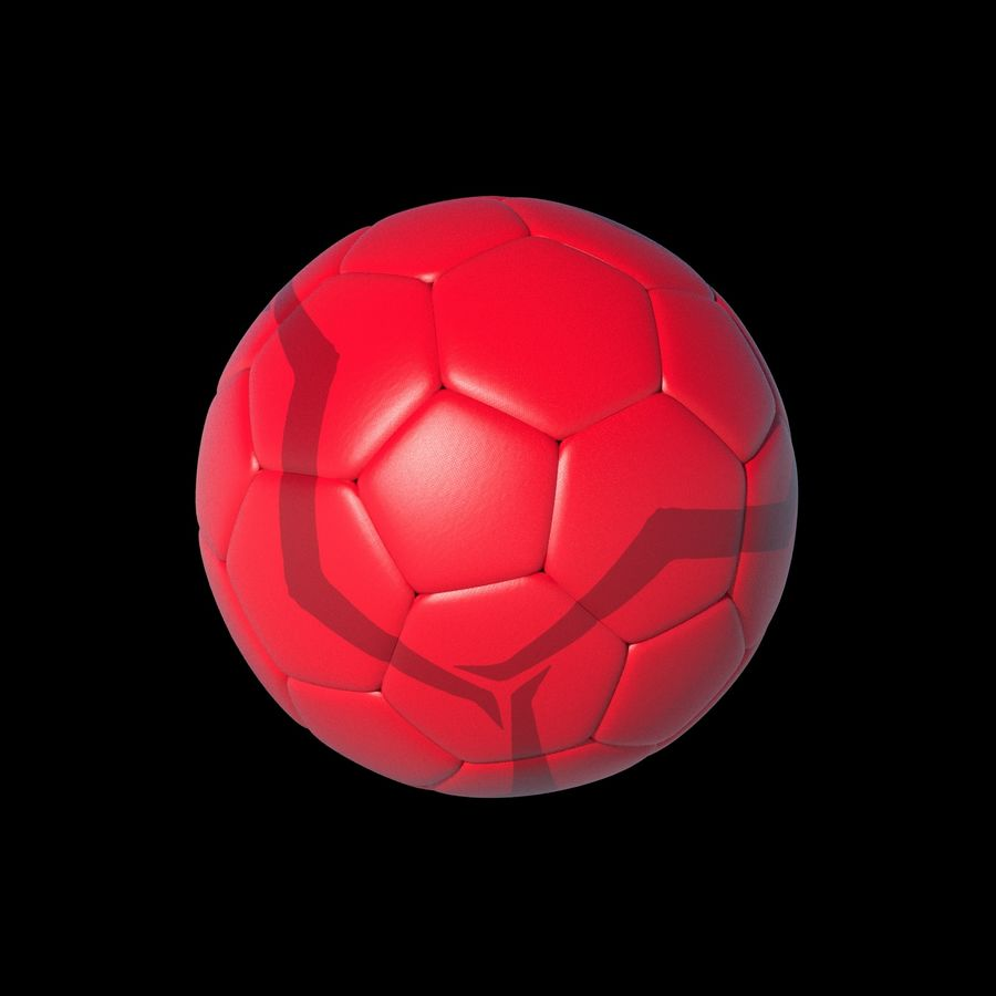 Beach Soccer Football Ball royalty-free 3d model - Preview no. 4