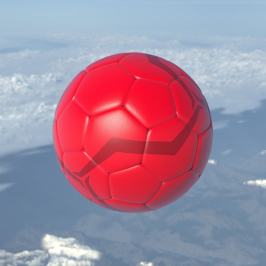 Beach Soccer Football Ball royalty-free 3d model - Preview no. 1