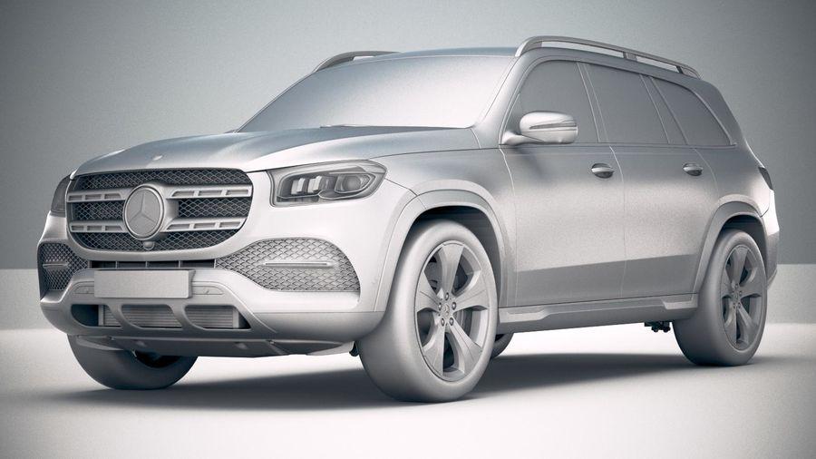 Mercedes-Benz GLS Basic 2020 royalty-free 3d model - Preview no. 23