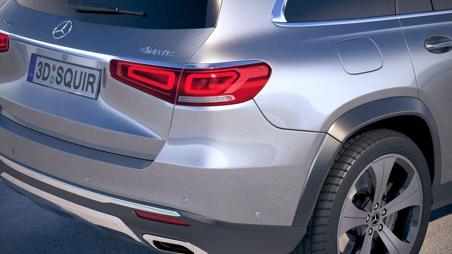 Mercedes-Benz GLS Basic 2020 royalty-free 3d model - Preview no. 4