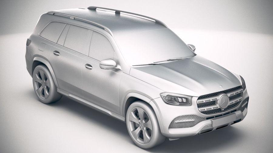 Mercedes-Benz GLS Basic 2020 royalty-free 3d model - Preview no. 22
