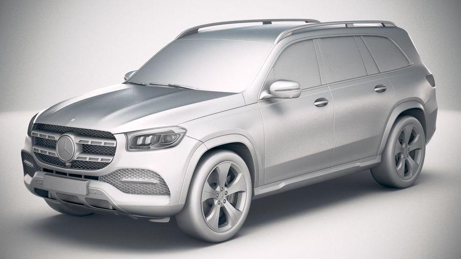 Mercedes-Benz GLS Basic 2020 royalty-free 3d model - Preview no. 18