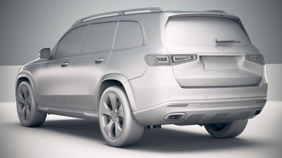 Mercedes-Benz GLS Basic 2020 royalty-free 3d model - Preview no. 24
