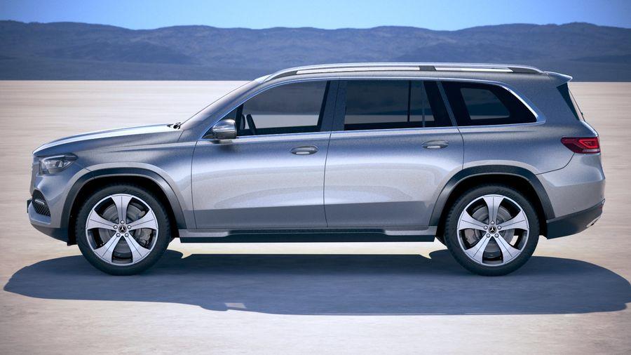 Mercedes-Benz GLS Basic 2020 royalty-free 3d model - Preview no. 7