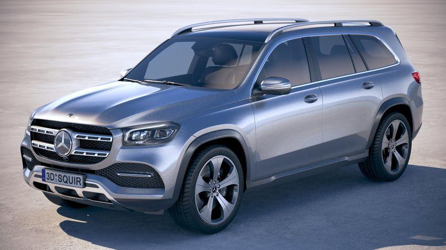 Mercedes-Benz GLS Basic 2020 royalty-free 3d model - Preview no. 1