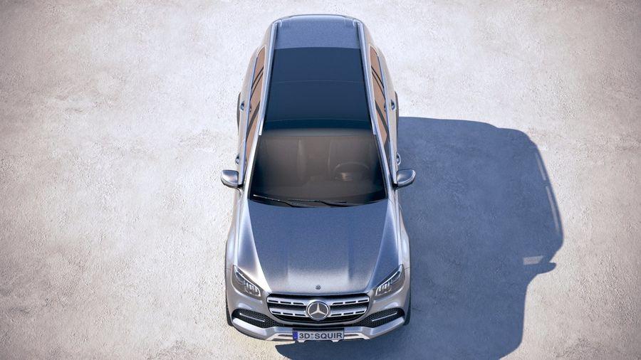 Mercedes-Benz GLS Basic 2020 royalty-free 3d model - Preview no. 9