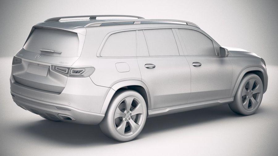 Mercedes-Benz GLS Basic 2020 royalty-free 3d model - Preview no. 21