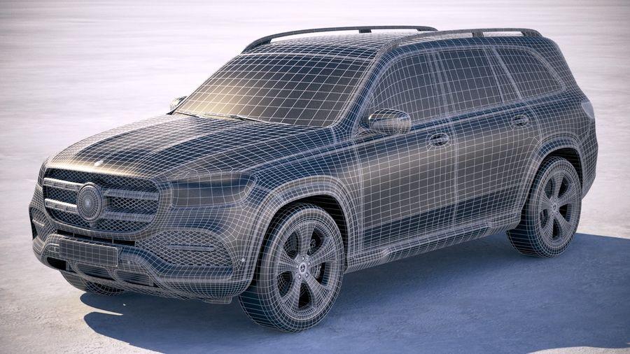 Mercedes-Benz GLS Basic 2020 royalty-free 3d model - Preview no. 27