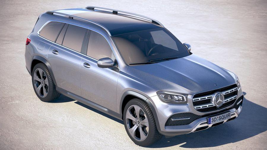 Mercedes-Benz GLS Basic 2020 royalty-free 3d model - Preview no. 12