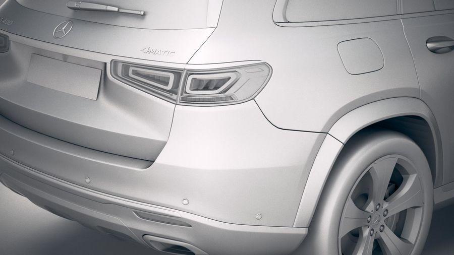 Mercedes-Benz GLS Basic 2020 royalty-free 3d model - Preview no. 20