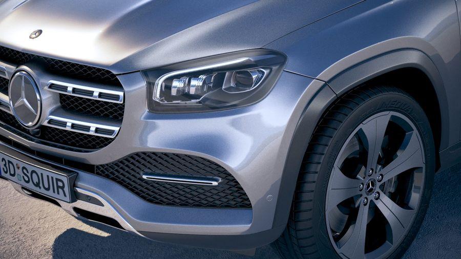 Mercedes-Benz GLS Basic 2020 royalty-free 3d model - Preview no. 3