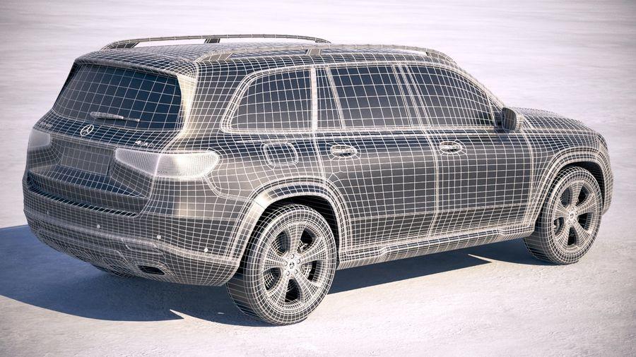 Mercedes-Benz GLS Basic 2020 royalty-free 3d model - Preview no. 28