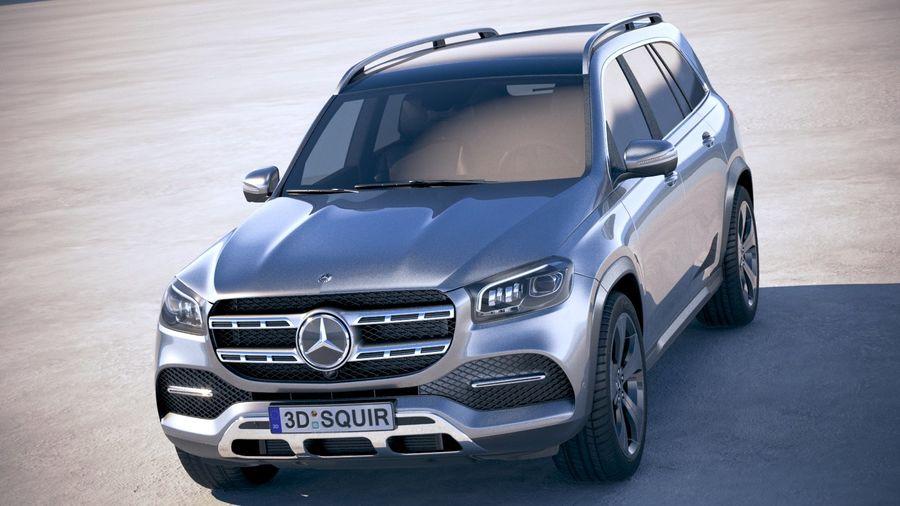 Mercedes-Benz GLS Basic 2020 royalty-free 3d model - Preview no. 2