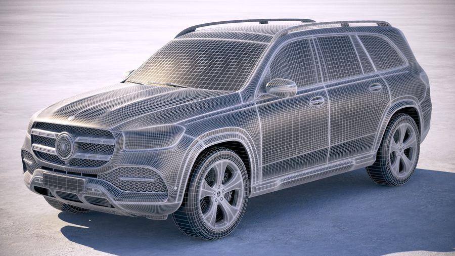 Mercedes-Benz GLS Basic 2020 royalty-free 3d model - Preview no. 25