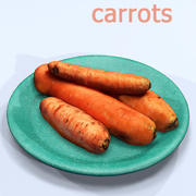 Carrots HD 3d model