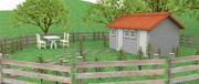 kreskówka scena domu 3d model