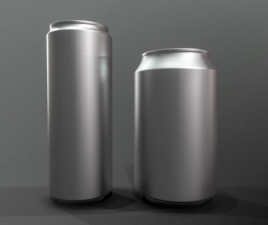Sodacan 250 ml + 330 ml z kropelkami royalty-free 3d model - Preview no. 6