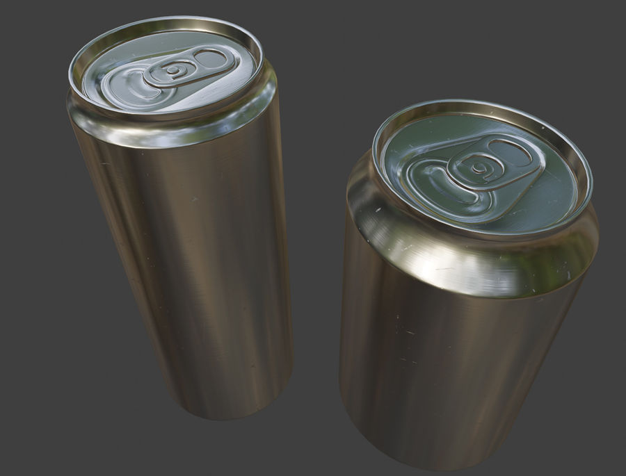 Sodacan 250 ml + 330 ml z kropelkami royalty-free 3d model - Preview no. 9