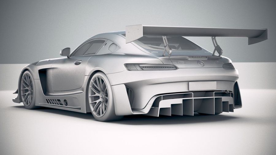 Mercedes AMG GT3 2020 royalty-free 3d model - Preview no. 24