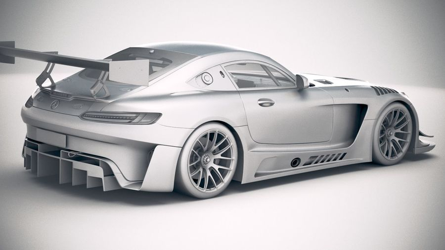 Mercedes AMG GT3 2020 royalty-free 3d model - Preview no. 21