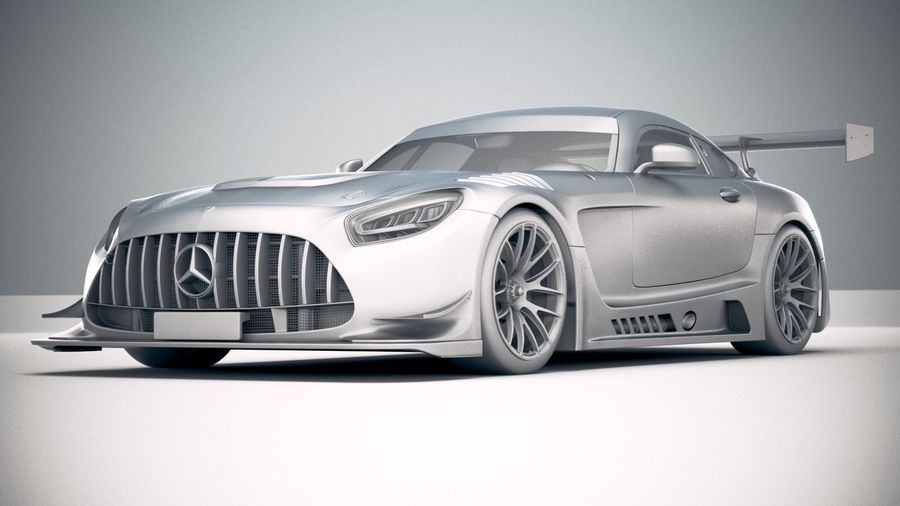 Mercedes AMG GT3 2020 royalty-free 3d model - Preview no. 23