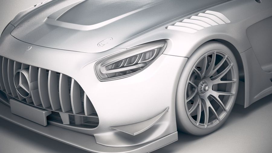Mercedes AMG GT3 2020 royalty-free 3d model - Preview no. 19