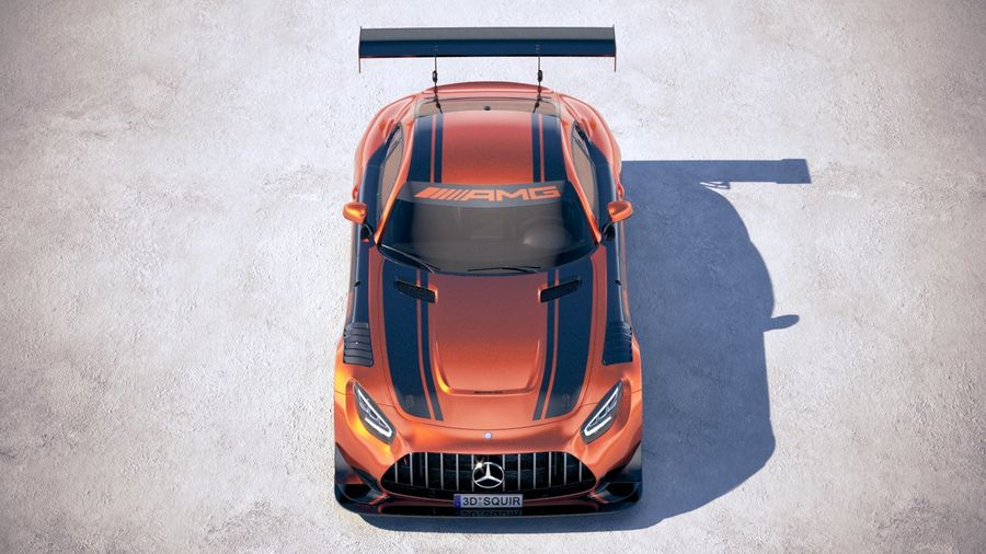 Mercedes AMG GT3 2020 royalty-free 3d model - Preview no. 9