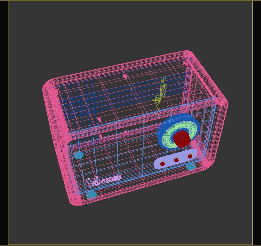 ヴィンテージラジオ royalty-free 3d model - Preview no. 7