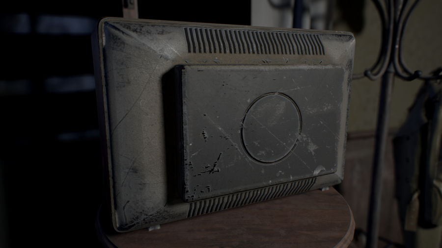Old TV royalty-free 3d model - Preview no. 6