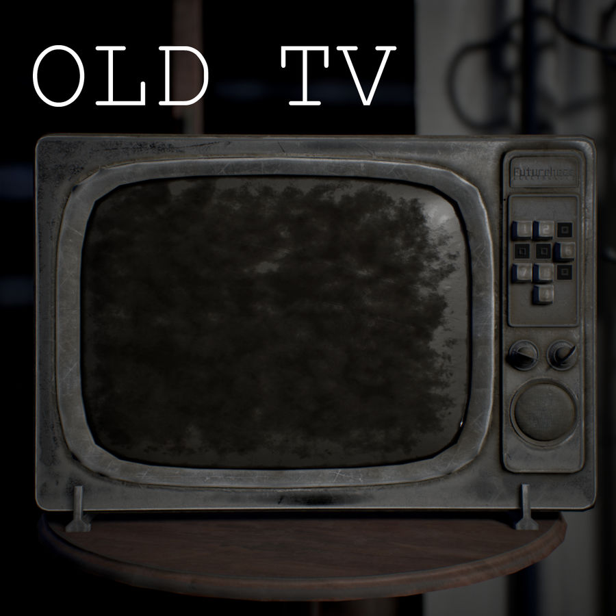Old TV royalty-free 3d model - Preview no. 2