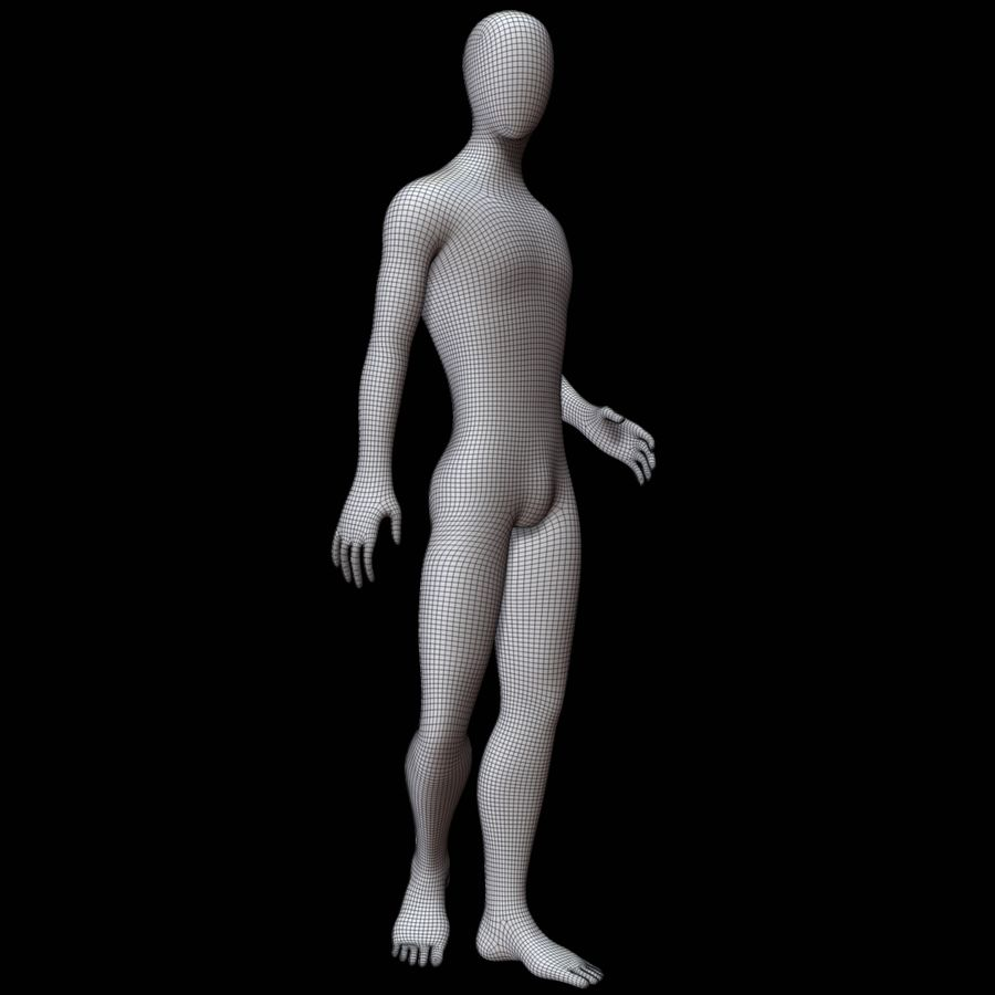 Mannequin Homme royalty-free 3d model - Preview no. 12