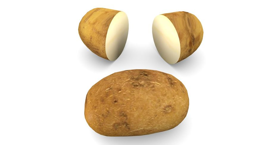 Pomme De Terre Basse Poly royalty-free 3d model - Preview no. 2