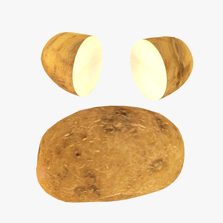 Pomme De Terre Basse Poly royalty-free 3d model - Preview no. 1