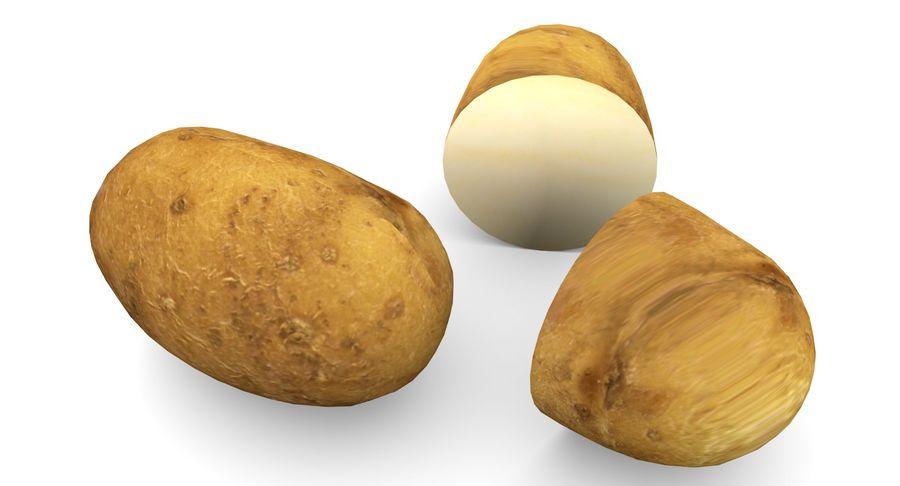 Pomme De Terre Basse Poly royalty-free 3d model - Preview no. 7