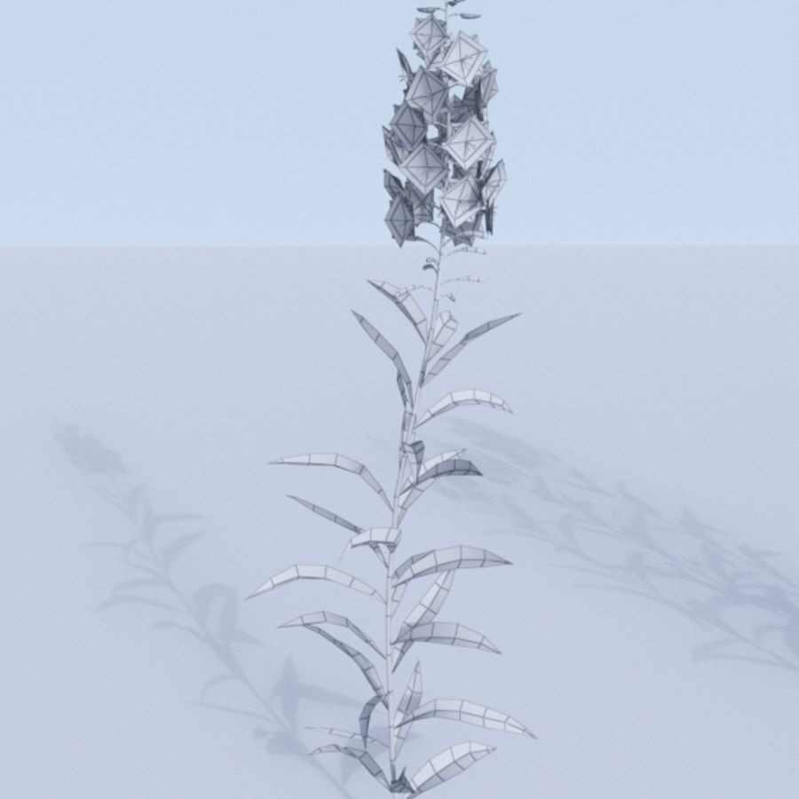 Fireweed set. Chamaenerion angustifolium royalty-free 3d model - Preview no. 11