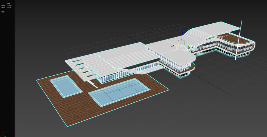 Spa Hotel royalty-free 3d model - Preview no. 12