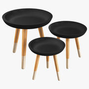 Coffee Table Set 3d model