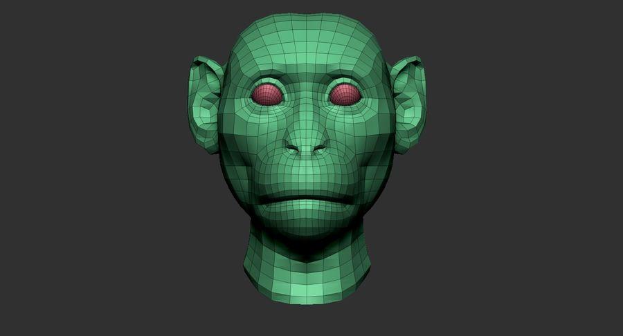 Monkey Head Base 2019 royalty-free 3d model - Preview no. 12