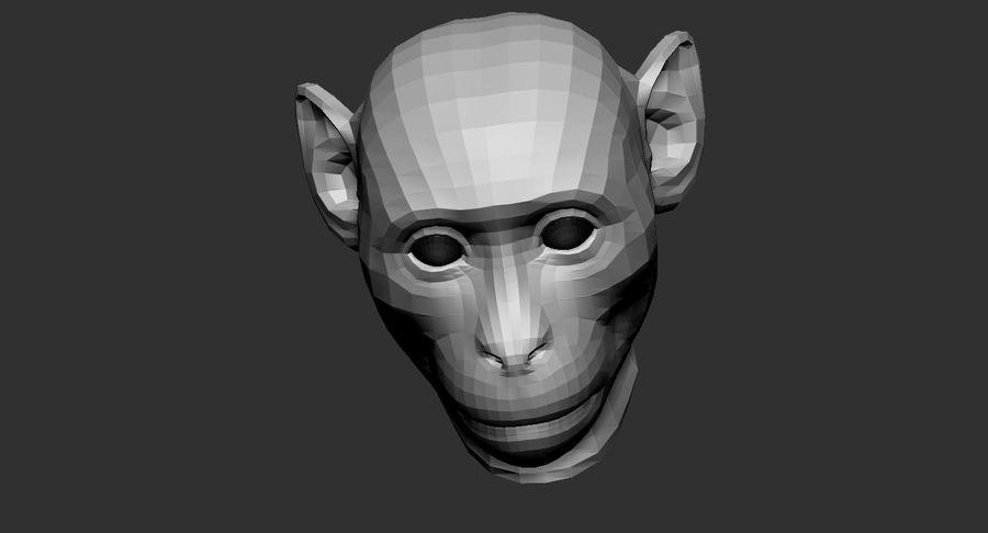 Monkey Head Base 2019 royalty-free 3d model - Preview no. 6