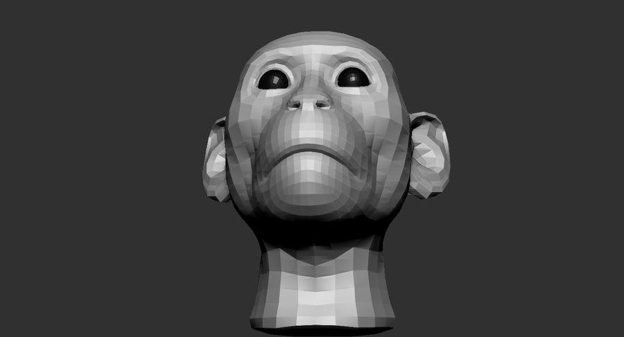 Monkey Head Base 2019 royalty-free 3d model - Preview no. 7
