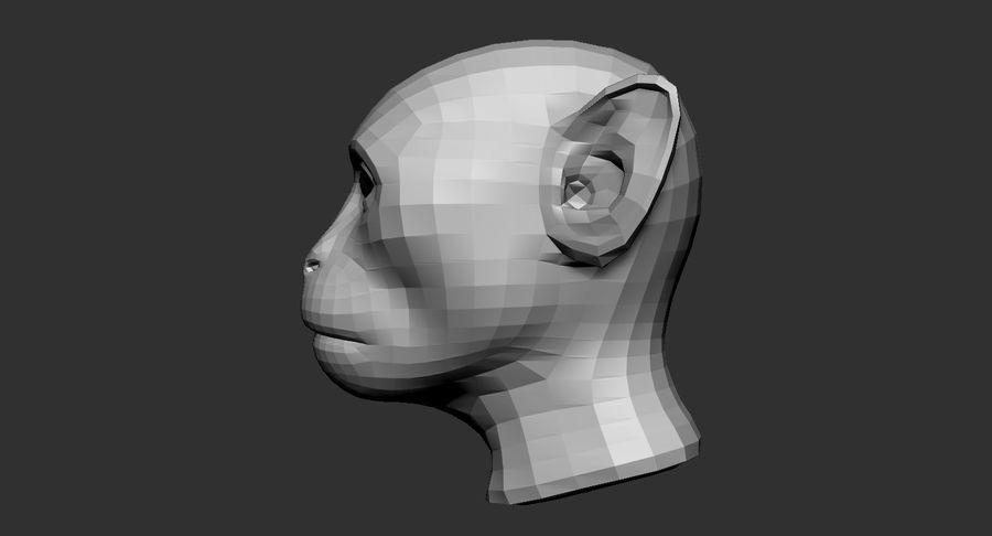 Monkey Head Base 2019 royalty-free 3d model - Preview no. 4