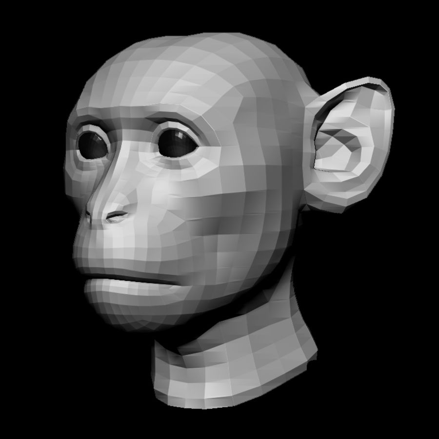 Monkey Head Base 2019 royalty-free 3d model - Preview no. 1