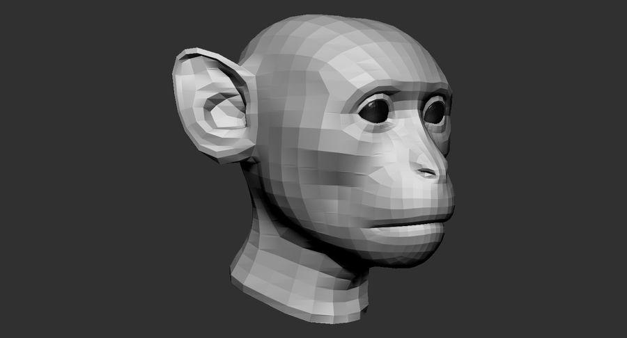 Monkey Head Base 2019 royalty-free 3d model - Preview no. 5